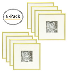 8x8 Frame for 4x4 Picture Gold Aluminum (8 Pcs per Box)
