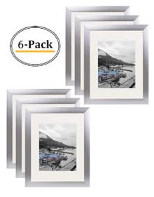 11x14 Frame for 8x10 Picture Silver Satin Aluminum (6 Pcs per Box)