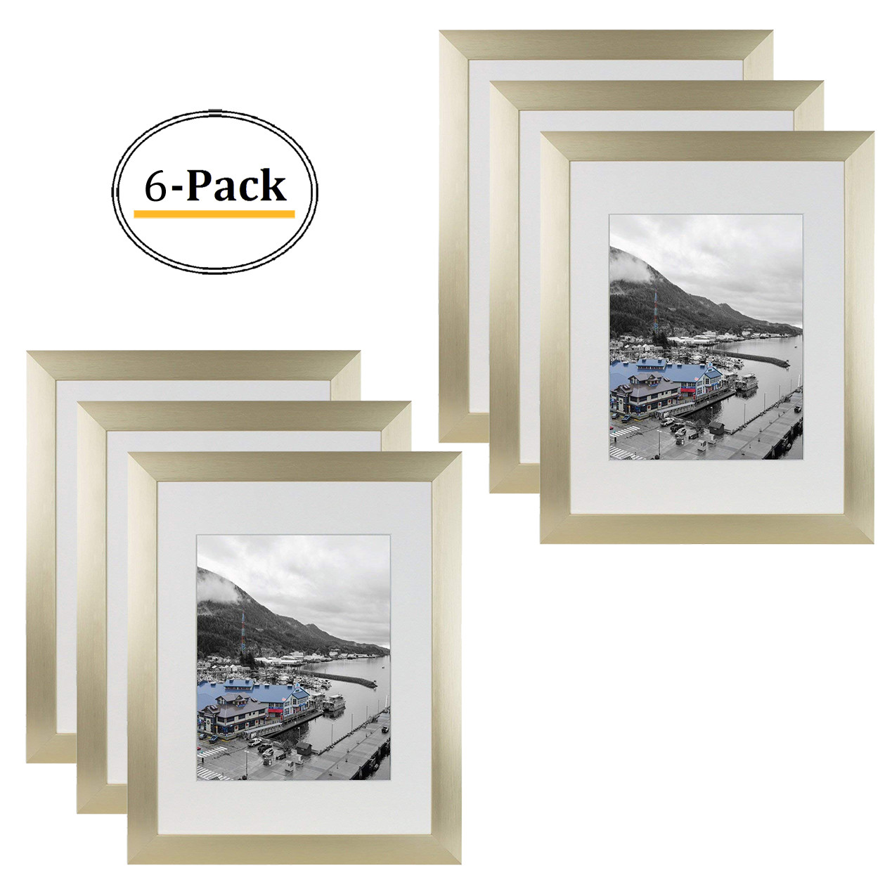 Gold Color Satin Aluminum Landscape Or Portrait Picture
