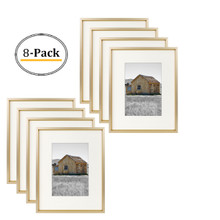 8x10 Frame for 5x7 Picture Gold Aluminum, Satin Finish (8 Pcs per Box)