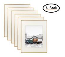 16x20 Frame for 11x14 Picture Gold Aluminum, Satin Finish (6 Pcs per Box)