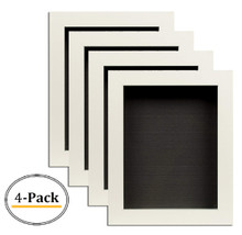 White Shadow Box Frame Display Case, 2-inch Depth, 8 x 10.5 inch (White) (4pcs/box)