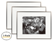16x20 Aluminum Frame, Medium Bronze Color, with Ivory Mat for 11x14 Picture/Photo & Real Glass (16x20) (3pcs/box)
