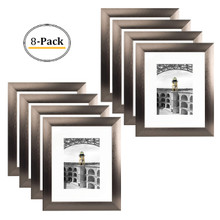 8x10 Frame for 5x7 Picture Dark-Brown Aluminum (8 Pcs per Box)