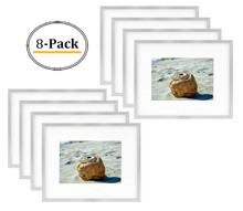 8x10 Frame for 5x7 Picture Silver Aluminum, Shiny Brushed (8 Pcs per Box)