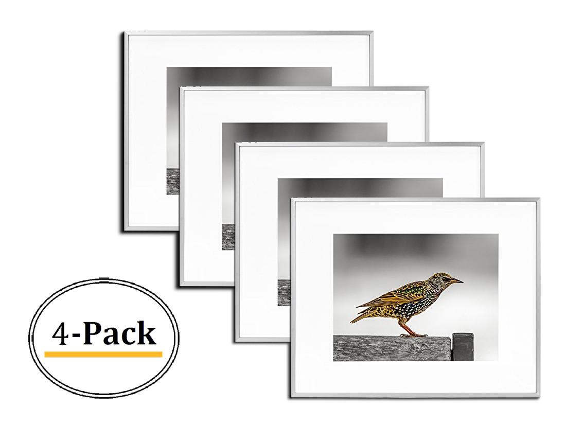 16x20 Frame For 11x14 Picture Silver Aluminum 4 Pcs Per Box Mat Board Center