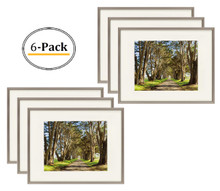 11x14 Picture Frame, Antique-Bronze Aluminum - Fit Photo 8x10 With Ivory Mat or 11x14 without Mat - Metal Frame by Shiny Brushed Style - Real Glass (11x14, Antique-Bronze) (6pcs/box)