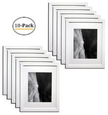 11x14 White Photo Wood Frame with Mat for 8x10 picture (10pcs/box)