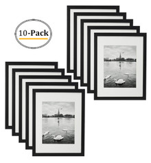 Black Photo Wood Collage Frame with REAL GLASS (11x14) (10pcs/box)