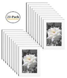4x6 Frame for 4x6 Picture White Wood (20 Pcs per Box)