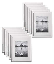 11x14 Frame for 8x10 Picture White Wood (10 Pcs per Box)
