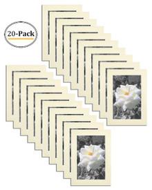 4x6 Frame for 4x6 Picture Cream Wood (20 Pcs per Box)