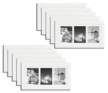 7x14 Frame for Three 4x6 Pictures White Wood (10 Pcs per Box)