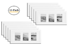 8x20 Frame for Three 4x6 Picture White Wood (10 Pcs per Box)