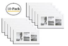 9x18 Frame for Three 5x7 Picture White Wood (10 Pcs per Box)