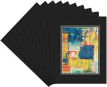 8x10 Double Mat For 5x7 Photos - Pack of 50