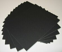 8x10 Uncut Black Mat Boards - Pack of 100