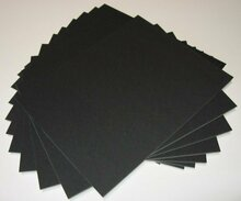 16x20 Uncut Black Mat Boards - Pack of 50
