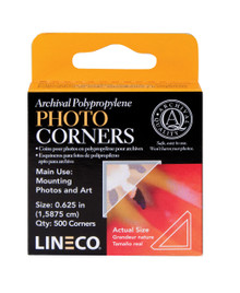 "Lineco Infinity Archival Clear 5/8"" Photo Corners - Pack of 500"