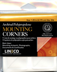 "Lineco Archival Mounting Corners- 1.25"" Polypropylene Corner (QTY:256)"