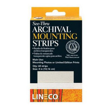 "Lineco Archival Mounting Strips- 1"" x 4"" Archival Strips"