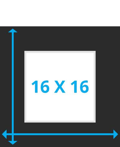 16x16 photo mat board, custom or pre-cut