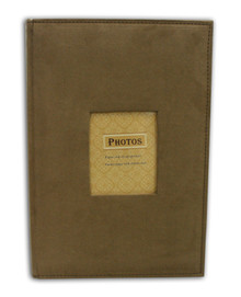 Brown Suede Photo Album for 300 4x6 Pictures