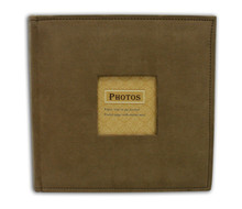 Brown Suede Photo Album for 200 4x6 Photos