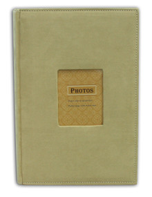 Beige Suede Photo Album for 300 4x6 Photos