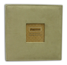 Beige Suede Photo Album for 200 4x6 Photos