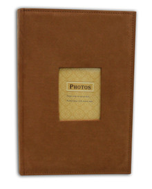 Rusty Bronze Suede Photo Album for 300 4x6 Photos