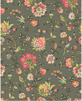 Village Garden - Bird Floral Grey