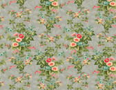 Village Garden - Large Floral Light Grey