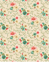 Village Garden - Small Floral Cream