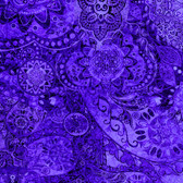 Quilting Treasures- Bohemian Rhapsody-Deep Purple