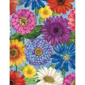 Wilmington Prints- Blossom and Bloom- Blossomed Blooms Blue