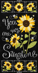 Timeless Treasure - Sunflower Chalkboard Panel