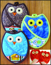 Susie C Shore Designs - Who Owl Pot Holders