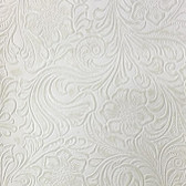 Faux Leather Tooled Vinyl - Moneteray Ivory