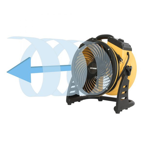 "XPOWER FC-100 Multipurpose 11"" Pro Air Circulator Utility Fan XPOWER Professional Grade Air Circulator Utility Fans"