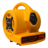 XPOWER P-130A Mini Air Mover Built-In Power Outlets for Daisy Chain