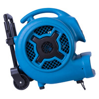 XPOWER P-800H Air Mover, Carpet Dryer, Floor Fan, Blower with Telescopic Handle & Wheels for Water Damage Restoration