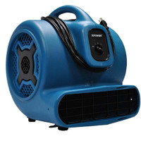 XPOWER P-830 Professional 1 HP Air Mover, Carpet Dryer, Floor Fan, Blower for Water Damage Restoration, Commercial Cleaning and Plumbing
