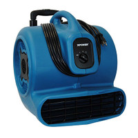 XPOWER P-830H 1 HP 3600 CFM 3 Speeds Professional Air Mover Careprt Dryer Floor Fan with Telescopic Handle & Wheels