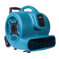XPOWER X-830H 1 HP 3600 CFM Professional Air Mover with Telescopic Handle and Wheels