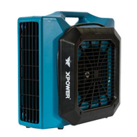 XPOWER XL-730A 1/3 HP, Sealed Motor Low Profile Fan, Air Mover with Build-in GFCI Power Outlets for Daisy Chain