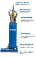 "Powr-flite PF18 Dual Motor Upright Vacuum 18"" with Tools (PF18)"