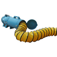XPOWER 8DHC25 - 25 Ft. Ducting Hose 8 Inch. Diameter