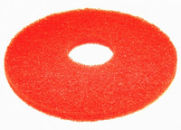 "16"" Red Round Floor Pads - Box of 5 (ETCJA16REDBX5)"