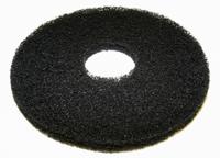 "12"" Black Round Floor Pads - Box of 5"